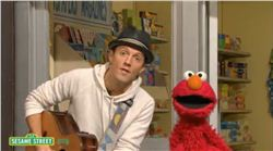 Jason Mraz and Elmo